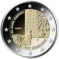 2 евро 2020 Германия  Коленопреклонение в Варшаве G UNC из ролла