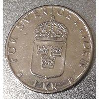 Швеция, 1 крона, 2000 год, медь-никель