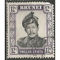 Бруней. Султан Омар Али Сайфуддин. 1952г. Mi#85.