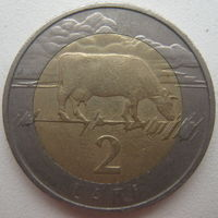 Латвия 2 лата 1999 г.