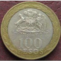 3771:  100 песо 2010 Чили