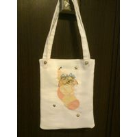 Детская сумочка вышивка на канве