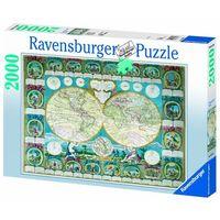Паззл Историческая карта  мира 2000 элементов Равенсбургер,артикул 16670