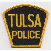 Шитый шеврон полиция города Тулса штат Оклахома США