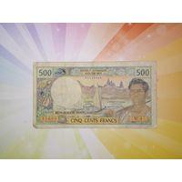 Французские тихоокеанские территории 500 франков 1985г -  19?? (французская Полинезия и новая Каледония)