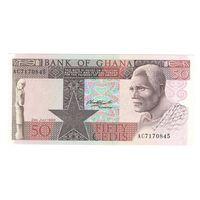 Гана 50 седис 1980 года. Нечастая! Состояние UNC!