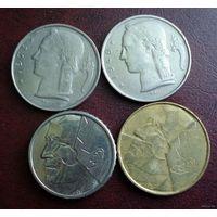 Бельгия. 4 монеты 1949-1987 г.