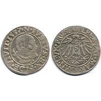 Грош 1537, Пруссия, Альберт Гогенцоллерн. Коллекционное состояние, R