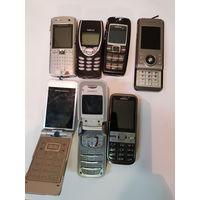 7 старых телефонов с 1 руб.