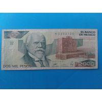 Мексика. 2000 песо 1989 года.