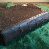 Книга молитвенник католический на польском языке 19 век Кожа