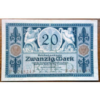 Германия, 20 марок 1915 год, Р63