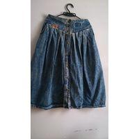 Юбка джинсовая р.50