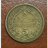 Ливан, 5 пиастров 1968