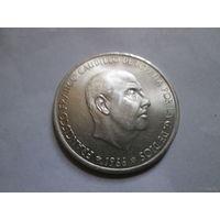 100 песет, Испания 1966 г., серебро 800, AU