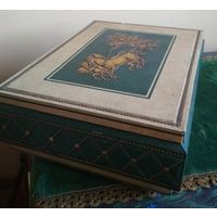 Большая коробка шкатулка футляр марки LUTTI металл середина прошлого века