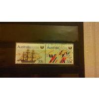 Корабли, парусники, флот, транспорт, марки, распродажа,  Австралия