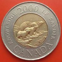 2 доллара 2000 КАНАДА Путь к знанию