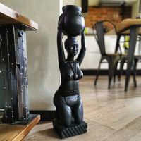 Африканская статуэтка. Чёрное дерево.