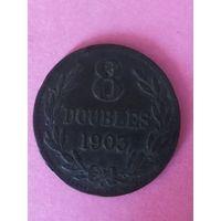 Гернси 8 дублей 1903г  91.000
