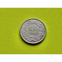 Швейцария. 1/2 франка 1993.