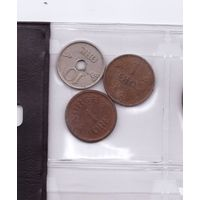1 эре 1937, 1 эре 1954 и 10 эре 1941 Норвегия. Возможен обмен
