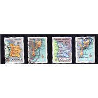 Ангола.Мозамбик.Карта государства.