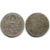 Грош 1609, Сигизмунд III Ваза, Краков. Герб Пилава в щите на Рв.
