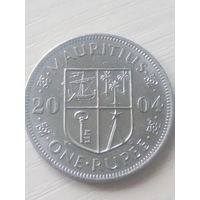 Маврикий 1рупия 2004г.
