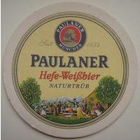 Подставка под пиво (бирдекель) Paulaner в ассортименте. Цена за 1 шт.
