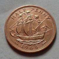 1/2 пенни, Великобритания 1964 г., AU