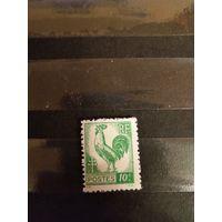 1944 Франция чистая оригинальный клей MNH** фауна птицы Гальский петух герб (1-л1