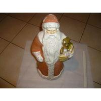 Старинный довоенный большой Дед Мороз Папье-маше