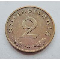 """Германия, 2 пфеннига 1938 год. Монетный двор """"А"""""""