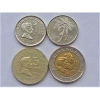 Филиппины 1,2,5 и 10 писо 1991-2012