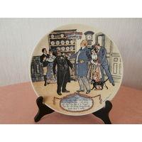 Тарелка 5 коллекционная фарфор художник Frederic Regamey изготовитель Sarreguemines Франция диаметр 22.5 см.
