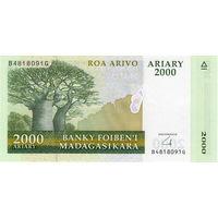 Мадагаскар, 2 000 ариари, UNC