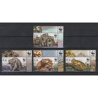 Таджикистан WWF Кошки 2017 год чистая полная серия из 4-х марок