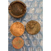 Монеты, гирька.