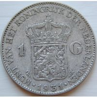 14. Нидерланды 1 гульден 1931 год, серебро*