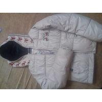 Куртка утепленная кожзам -15/р- р38-42