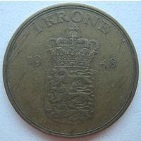 Дания 1 крона 1948 г.