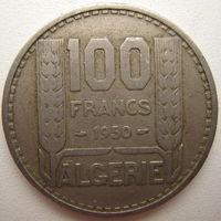 Алжир 100 франков 1950 г.