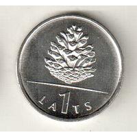 Латвия 1 лат 2006 Шишка