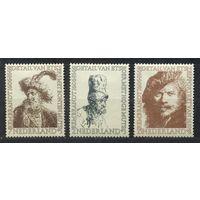 Живопись. Рембрандт. 1956. Нидерланды. MLH. Не полная серия 3 марки. Чистые. Стоимость по каталогу 33 евро.