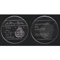 Аруба _km6 2 1/2 флорина 1994 год (ba) (b06)
