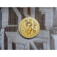 Медаль настенная Олимпийский Мишка, Москва - 1980
