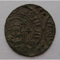 Шеляг 1624 г. Сигизмунд III Ваза, Вильно, Коп. #3462 R1