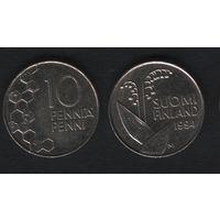 Финляндия km65 10 пенни 1994 год (M) (f31)*
