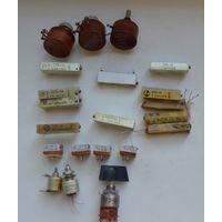 Радиодетали.Резисторы ПП3,СП5,Переключатель ПГ2-13